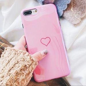 🆕 iPhone 7/8 7Plus/8Plus X pink heart case